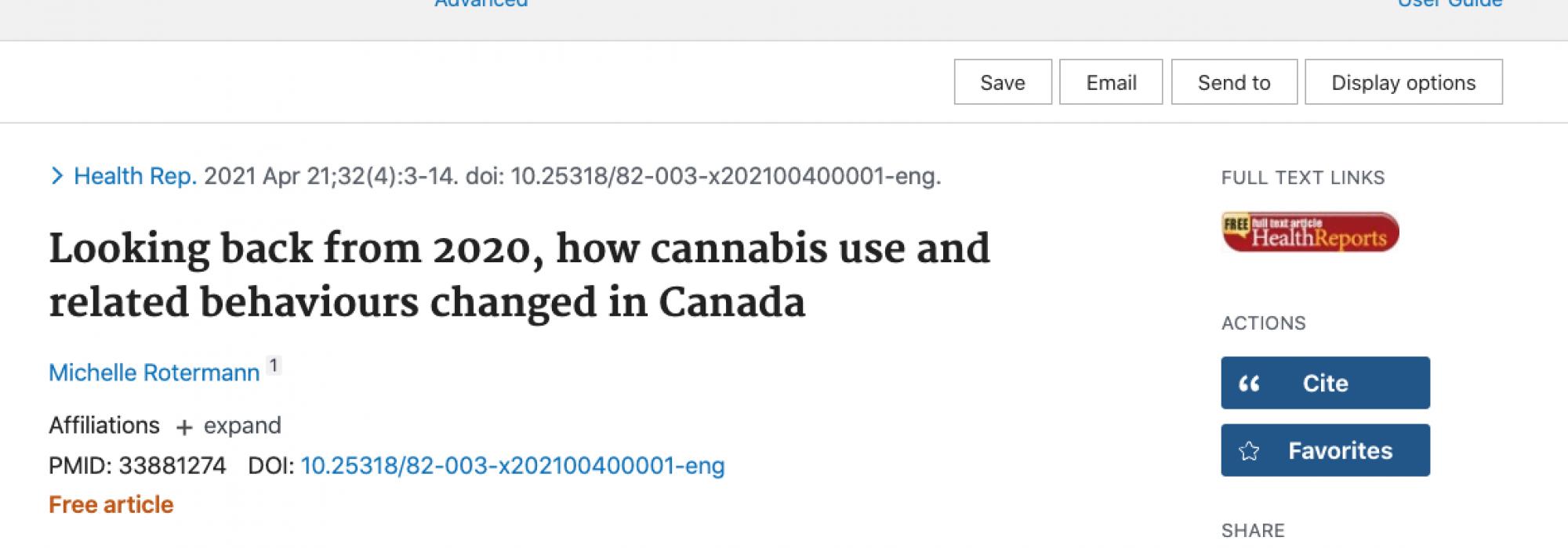 In Canada il 70% dei consumatori preferisce la cannabis legale